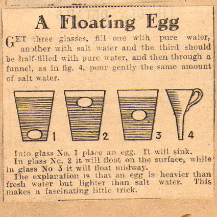 a floating egg trick