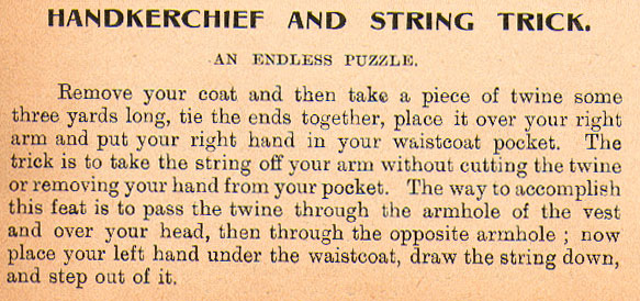 Handkerchief And String Trick