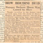 How Houdini Died clipping