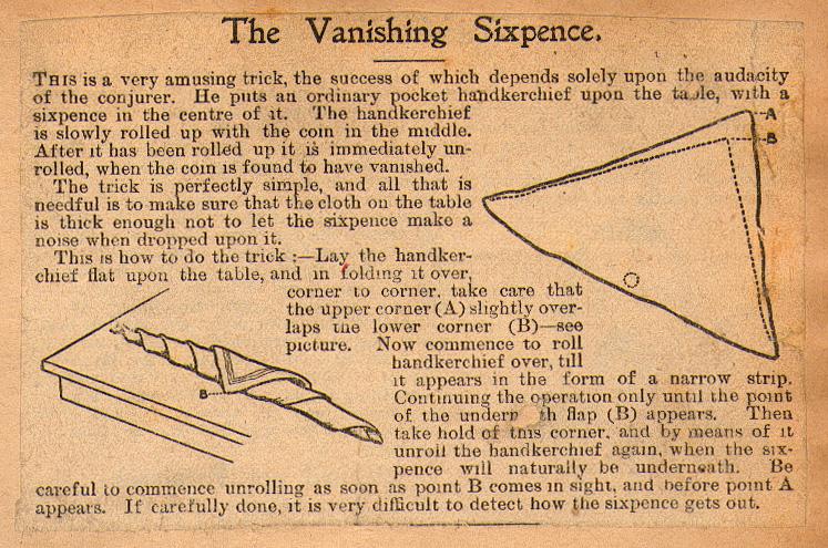 The Vanishing Sixpence